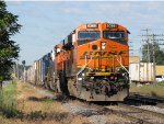 BNSF 6369 nears the yard as it leads Q326-22 east on Track 2