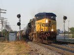 Departing west over an hour earlier than normal, CSX 121 splits the Ivanrest signals with Q327-30