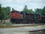 CN 8946 leads a coal train north