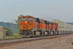 BNSF 7416 leads another hotshot z train.