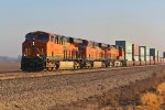 BNSF 7871 leads a Wb stack train.