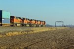 BNSF 6851 trails 3rd unit on a Eb passing bye the old Atsf lights.
