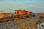 BNSF 7423 Heads into the golden hour of Sun.