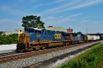 CSX 5406 leads a second mixer west.
