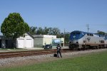 Unscheduled Amtrak crew change in front of Folkston Funnel platform