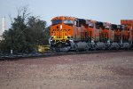 BNSF 7061 Leads the Q CHI-LAC with BNSF 7060, 7058, and 7059 on Their First Revenue Run West out of GE Erie, Pa :))).