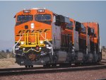 Up Close Shot off BNSF 7061 Leading the Q CHI-LAC towards BNSF Barstow for a crewchange.
