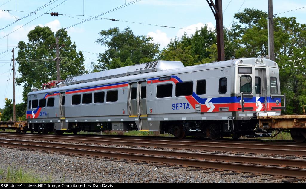 SEPTA Silverliner V 735 on C964-27
