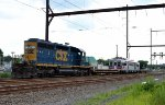 CSX SD40-2 8432 long hood forward on C964-22