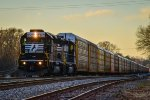 NS 3367 / SD40-2 leads a local auto train early evening