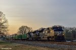 A pair of SD70ACe's is leading this intermodal