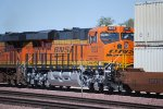 BNSF 7033 is the 2 unit behind BNSF 7460 as they pull a Stack Train on the Jewel connector track at BNSF Barstow.