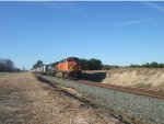 BNSF 5703 Leads NS 53W Out Of Pine Level, NC