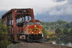 Westbound BNSF train east of Stevenson, WA  Columbia River Gorge
