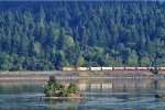 Westbound BNSF train near Stevenson, WA in the Columbia Gorge