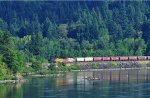 Westbound BNSF train near Stevenson WA, in the Columbia Gorge