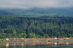 Westbound BNSF grain train passes Stevenson, WA in Columbia G