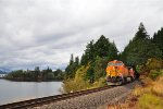 BNSF eastbound Grain train east of Stevenson WA