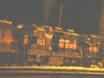 SD26 643 idling at night
