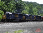 "Mixed Batch of CSX Geeps pulling ""rock train"""