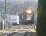 NS 5620 leads the Morristown & Erie Toys For Tots Train