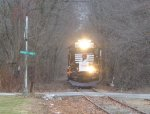 Morristown & Erie Toys For Tots Train approachs Hillside Avenue