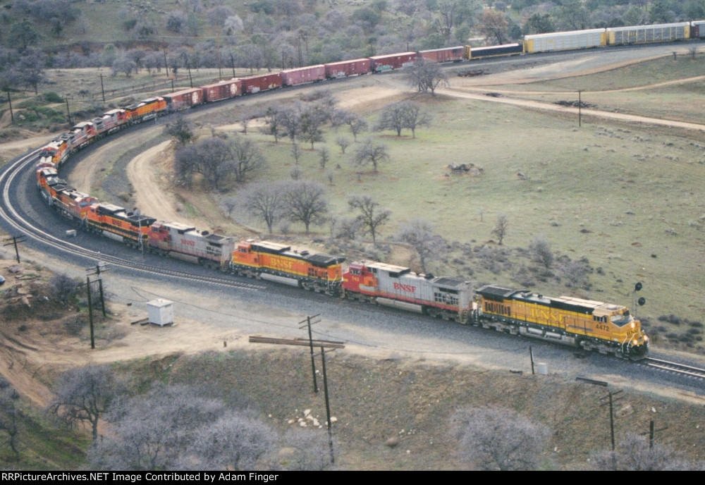 BNSF 4472 leads eleven other GEs
