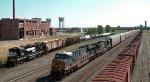 CSX EB Intermodal meets NS H1J
