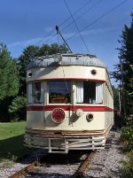 Lehigh Valley Transit (ex-Indiana Railroad) Interurban Car #1030.  This is the Observation End