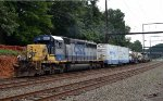 CSX SD40-2 8084 leads O033-14 with undercutting equipment