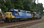 """Lansdale units"" CSX GP40-2s 6280 and 4422 on O033-14"