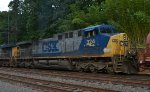 CSX AC44CW 324 trails on Q438-13