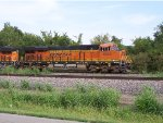 Lead unit BNSF 6869 at Halls,MO