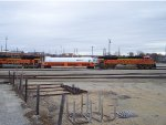BNSF 9130 and a tankcar between the locos