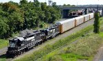 Elephant style high hood GP38-2s 5172 and 5007 take headroom out of Enola Yard