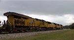 UP Intermodal with UP 7520 on a stormy day