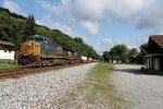CSX Q130 single stack intermodal train
