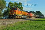 BNSF 4581 leads a freight NB out of foley MO.