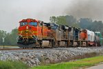 BNSF 4957 leads a Memgal Nb at old monroe with csx power.