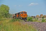 BNSF 7391 heads up a small freight sb down the k line.
