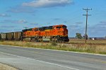 BNSF 9262 leads a loaded coal SB.