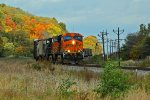 BNSF 5759 Leads a mixed freight Into elsberry mo.