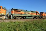 BNSF 8604 runs silet on a nb freight.