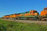 BNSF 8604 is seen on last time heading nb up the k line.