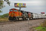 BNSF 4565 sits in the siding with good power.