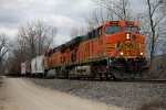BNSF 7684 Heads up a SB freight train.