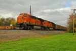 BNSF 6095 leads a load of ucex coal Sb.