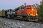 BNSF 5834 leads a empty ucex Nb toward old monroe mo.