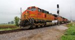 BNSF 4931 takes a loaded grain NB out of the siding at elsberry mo.
