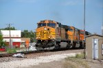 BNSF 5382 heads a ore load Sb out of elsberry MO,
